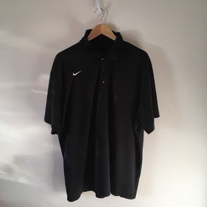 Nike black button-down short-sleeve shirt XXL